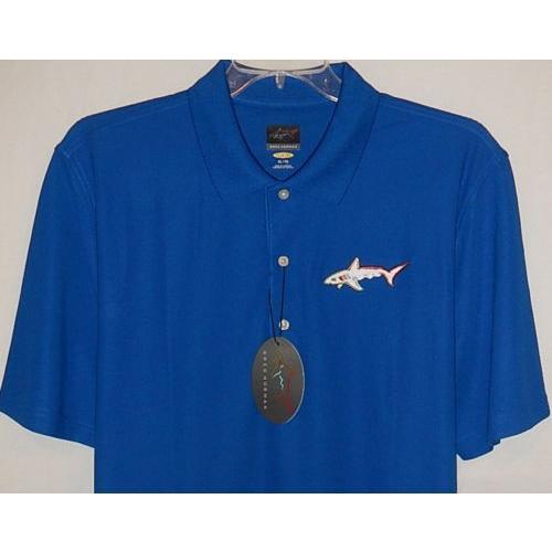 シャツ トップス セーター グレッグノーマン Greg Norman リミテッド エディション Tour Shark ロゴ play dry perform s/s polo XXL (Mart)