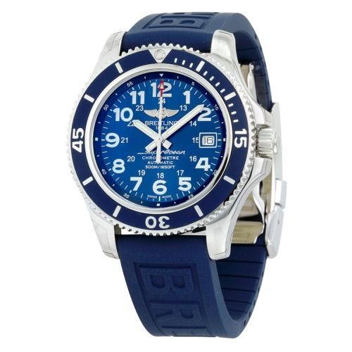 超格安一点 腕時計 ブライトリング Breitling スーパーオーシャン Breitling II 42 腕時計 ラバー オートマチック ブルー ラバー メンズ 腕時計 A17365D1-C915BLPD3, 滋賀県大津市:4a9eca55 --- sonpurmela.online