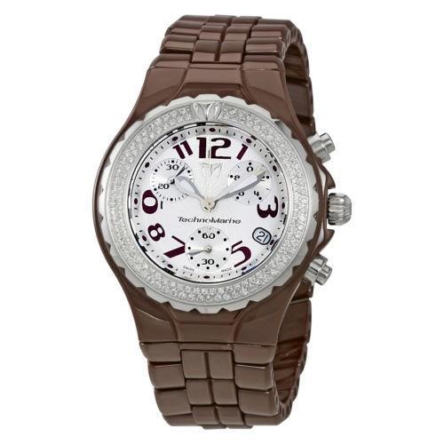 最安値挑戦! 腕時計 テクノマリーン TechnoMarine クロノグラフ シルバー ダイヤル レディース 腕時計 DTCBR26C, 天栄村 76dee8ee