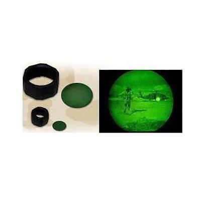 アウトドアスポーツ キャンプ ハイキング 懐中電灯 ランタン ライト 照明 MagLite C D Cell Night Vision Green Lens with Holder #108-000-612