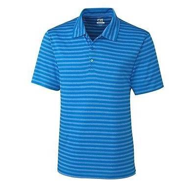 【返品交換不可】 シャツ トップス セーター カッターアンドバック Cutter Buck Tilton Melange ストライプ Polo ブルー XXX-ラージ -メンズ ゴルフ shirt, 腕時計 財布 ショップK&Yu 64422d61