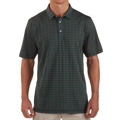 シャツ トップス セーター リンクソウル LinkSoul Thin ストライプ Polo グリーン ミディアム -メンズ ゴルフ shirt