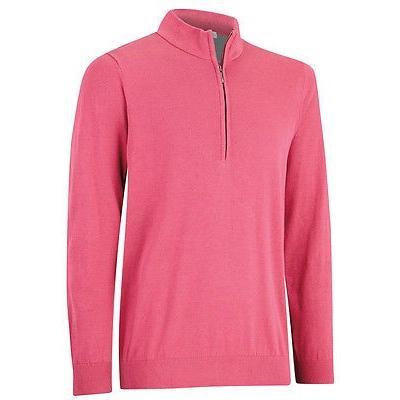 ゴルフウェアボトムス アッシュワース Ashworth Pima コットン 1/2 ジップ Sangria ラージ- ゴルフ outerwear