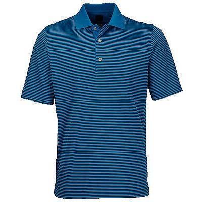 距離計 スコープ グレグ ノーマン Greg Norman ML75 Micro Lux Fine ストライプ Polo Patriot ブルー ミディアム ゴルフ shirt