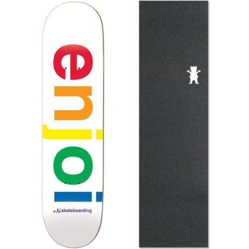 スケボー エンジョイ デッキ スケートボード ロングボード Enjoi Spectrum Deck 7.75 ホワイト ウイズ GRIZZLY グリップテープ