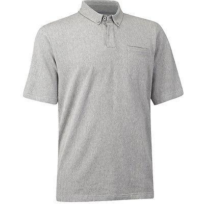 シャツ トップス セーター アシュワース Ashworth コットン ヘリンボン Pocket Polo Mid グレー ミディアム