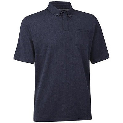 シャツ トップス セーター アシュワース Ashworth コットン ヘリンボン Pocket Polo ネイビー Heather ミディアム