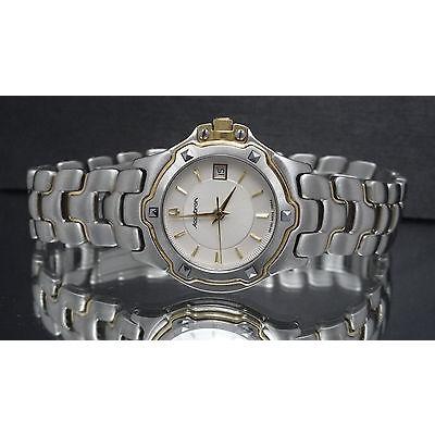 結婚祝い ブローバ Vera アキュトン 28B54 Vera Cruz Cruz アキュトン ツートン Tungsten アクセント ベゼル 腕時計, PARTS:d217bc1c --- levelprosales.com