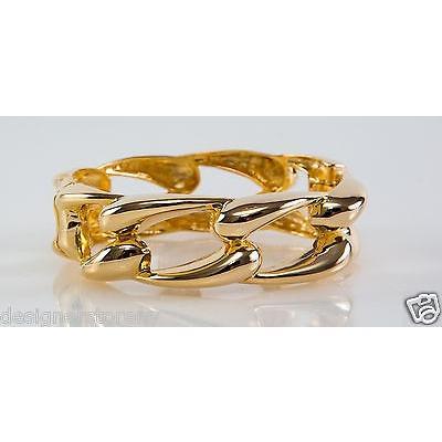 【超お買い得!】 ブレスレット ケネスジェイレーン Kenneth Jay Lane Polished Gold Link Bangle Bracelet 5006BPG, らいぶshop 66328bc5