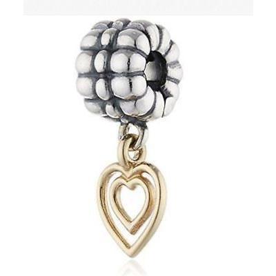 高級品市場 チャーム チャームブレスレット パンドラ Box Pandora Authentic Hearts Charm Heart of Hearts with Gift Box Authentic 790987, 青葉区:51e740e5 --- airmodconsu.dominiotemporario.com
