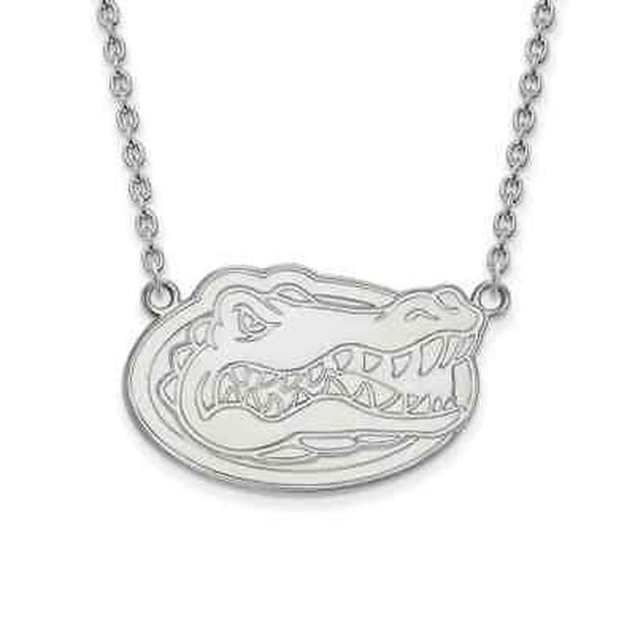 【正規品質保証】 ストーンのついていない貴金属 ロゴアート Sterling Silver LogoArt University of Florida Large Pendant with Necklace, カバンの店 東西南北屋 6d754082