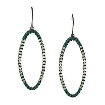 数量は多 ラプレシオサ Shape Preciosa イヤリング La Preciosa Sterling Silver Green Crystal Sterling Open Oval Shape Earrings, 浅草満願堂:68b50007 --- airmodconsu.dominiotemporario.com