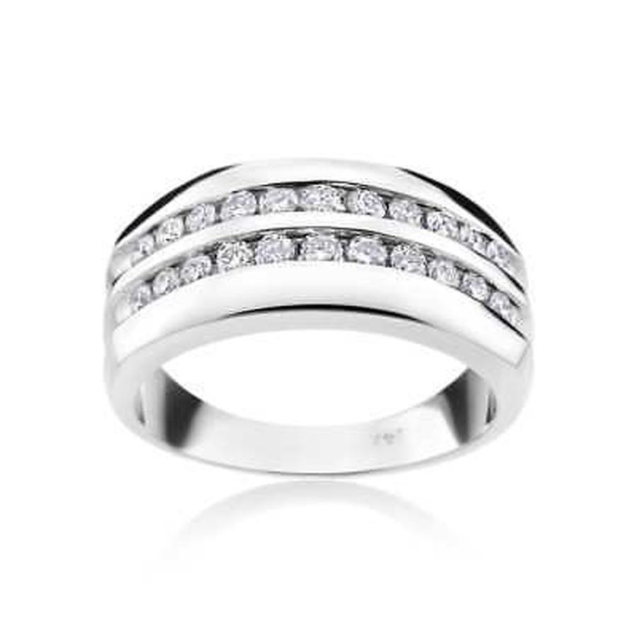 全品送料0円 ダイヤモンド アンドリューチャールズ Andrew Charles 14k White Gold Men's 7/8ct TDW Diamond Ring, EYE MAX d2964387