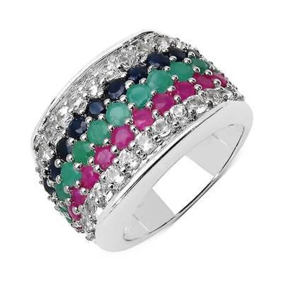 注目 オリビアレオネ Olivia Leone Sterling Silver 4ct TGW Multi-stone Ring, 超可爱の 2ced2ae6