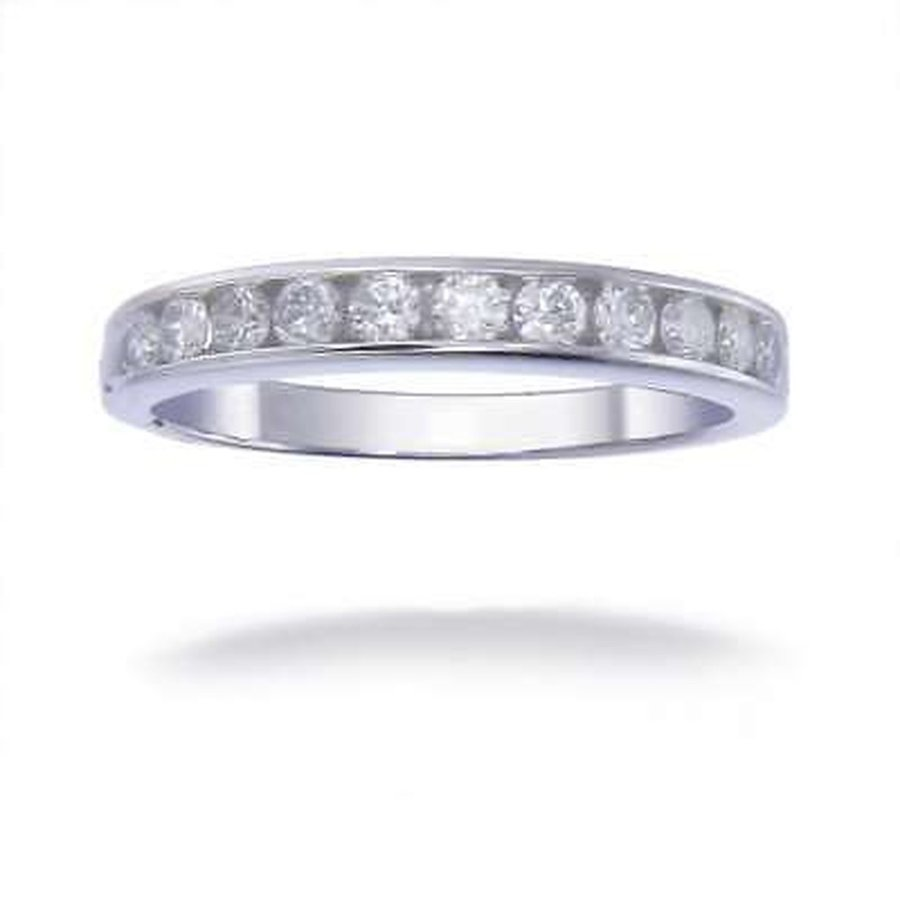 値引きする 海外バイヤー厳選ブランド ダイヤモンド White 14K White Gold TDW 1/2 Gold CT TDW Round Diamond Wedding Band - White G-H, CANVER-ONLINE キャンバー:9d03274b --- airmodconsu.dominiotemporario.com