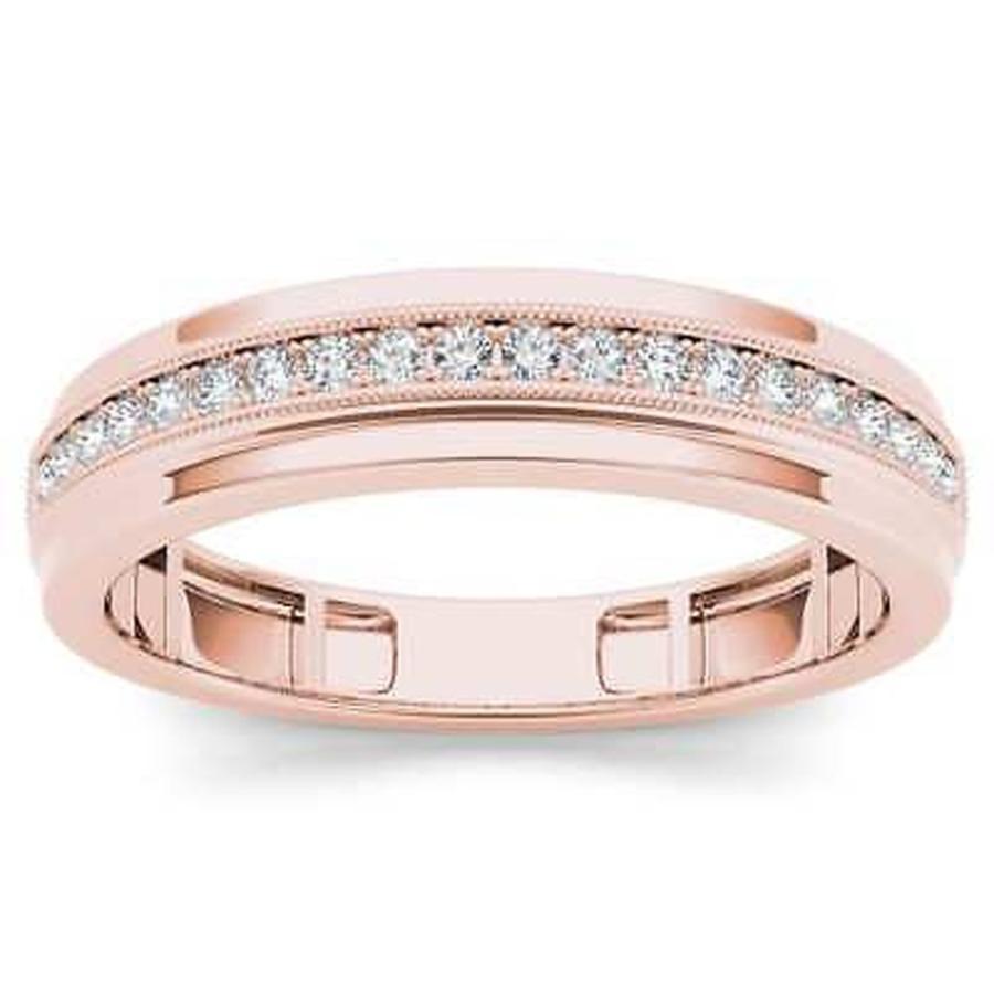 開店記念セール! ドゥクール ダイヤモンド 10k De Couer Men's 10k Rose Gold 1/4ct Pink TDW Men's Wedding Band - Pink, 蒲鉾本舗 高政:4fc50dcc --- airmodconsu.dominiotemporario.com