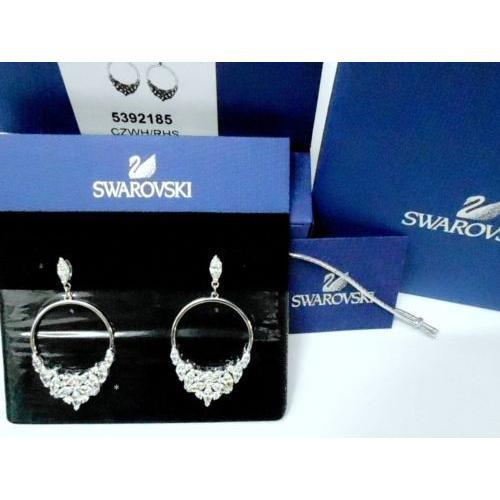 美しい イヤリング スワロフスキー Swarovski Lady Pierced Earrings Authentic スワロフスキー Hoop Frontal, Lady RHS Crystal Authentic MIB 5392185, 養鼈園:6ce6197f --- airmodconsu.dominiotemporario.com