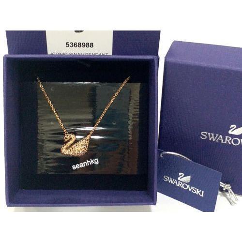 新発売 ネックレス スワロフスキー Iconic Swan Pendant, Rectangular, ROS Swarovski Crystal Authentic MIB 5368988, 会計そふとProShop 5269022a