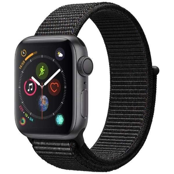 Apple(アップル)『Apple Watch Series 4(GPS + Cellularモデル)- 40mmスペースグレイアルミニウムケースとブラックスポーツループ(MU672J/A)』
