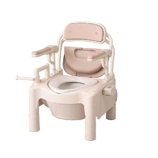 ポータブルトイレFX-CP はね上げ 暖房·快適脱臭 トランスファータイプ/870-112 アロン化成