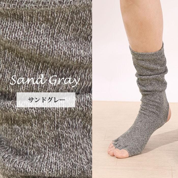 ヨガソックス 靴下 5本指 指なし 滑り止め 5本指 指なし健康ソックス レディース 冷え性対策 フィットネス 秋|panetone|05