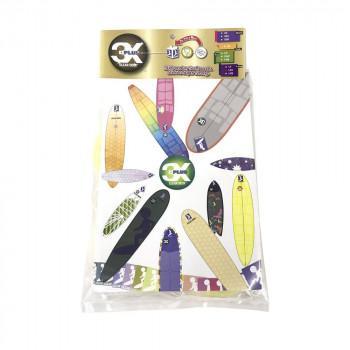 送料無料|3X+PLUS クリアデッキ LFC ロング用テールデッキ含む(丸型など100枚入り)|b03