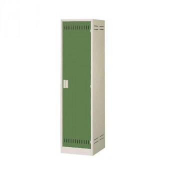 送料無料 掃除用具ロッカー ニューグレー×ゴールドグリーン COM-NCP b03 COM-NCP b03