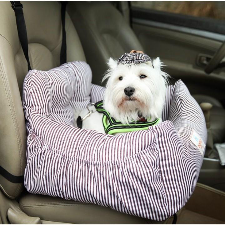 ペット用 車載 ドライブベッド 犬用 ペットソファー ドライブシート ソファー 助手席 車用ペットベッド 飛び出し防止 水洗い 車用ペットシート Panni panni-fashion 12