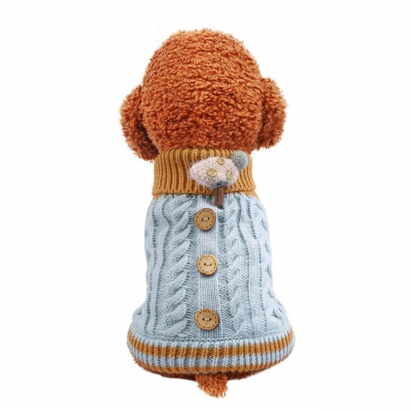 犬の服 犬 服 ニッド セーター 犬洋服 ドッグウェア 暖かい 二足 秋冬 可愛い服 保温防寒 選べる3色 トイプードル 小中型犬 メール便対応 送料無料|panni-fashion|14