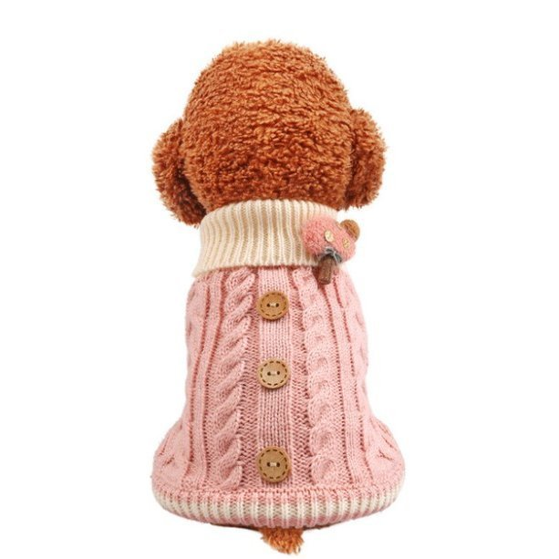 犬の服 犬 服 ニッド セーター 犬洋服 ドッグウェア 暖かい 二足 秋冬 可愛い服 保温防寒 選べる3色 トイプードル 小中型犬 メール便対応 送料無料|panni-fashion|15