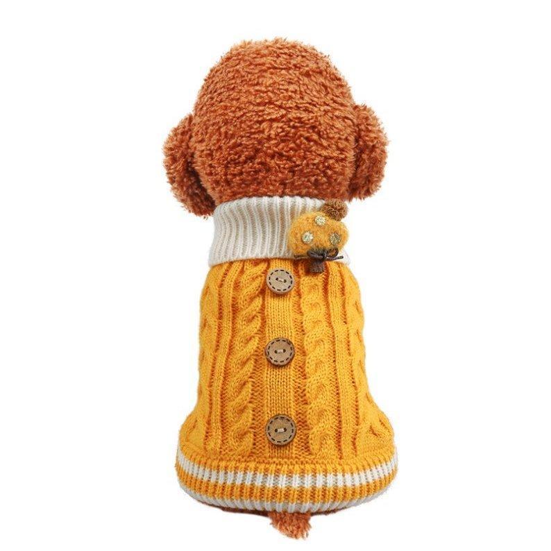 犬の服 犬 服 ニッド セーター 犬洋服 ドッグウェア 暖かい 二足 秋冬 可愛い服 保温防寒 選べる3色 トイプードル 小中型犬 メール便対応 送料無料|panni-fashion|13