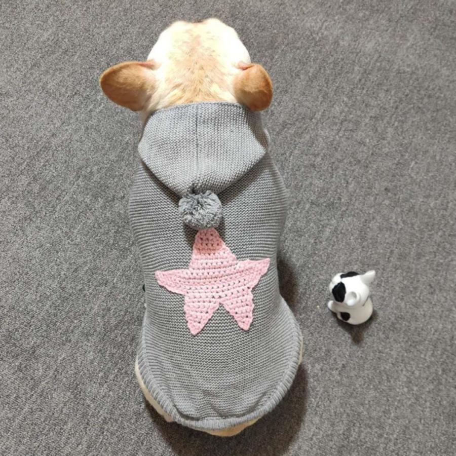 犬の服 犬服 セーター パーカー 編み 犬のニット かわいい ドッグウェア ドッグクローズ トイプードル チワワ ポメラニアン 小型犬 送料無料 メール便対応|panni-fashion|16