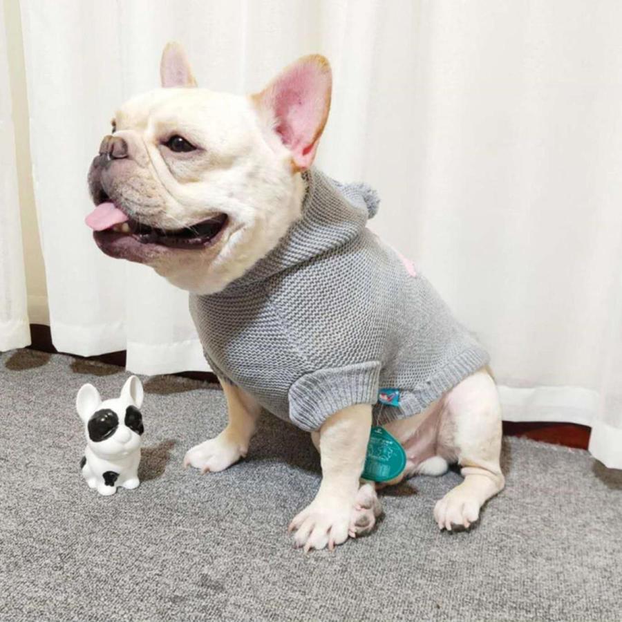 犬の服 犬服 セーター パーカー 編み 犬のニット かわいい ドッグウェア ドッグクローズ トイプードル チワワ ポメラニアン 小型犬 送料無料 メール便対応|panni-fashion|05