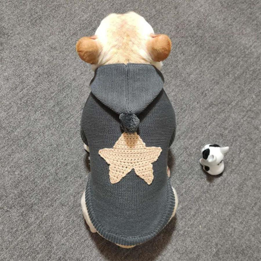 犬の服 犬服 セーター パーカー 編み 犬のニット かわいい ドッグウェア ドッグクローズ トイプードル チワワ ポメラニアン 小型犬 送料無料 メール便対応|panni-fashion|17