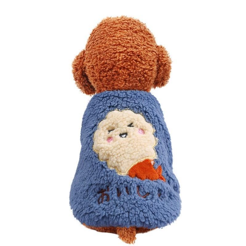 犬の服 ドッグウェア 犬 服 ドッグクローズ 秋冬 暖かい 防寒 もこもこ ふわふわ 可愛い 二足 小型犬 中型犬 選べる 3色 XS S M L XL Panni|panni-fashion|11