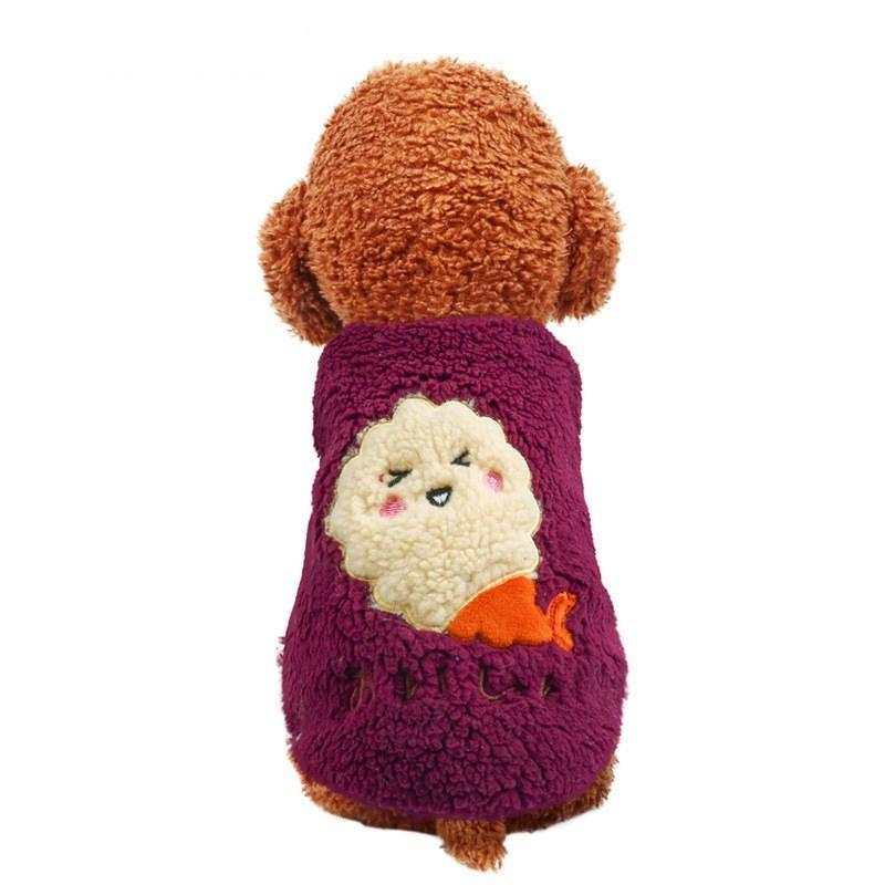 犬の服 ドッグウェア 犬 服 ドッグクローズ 秋冬 暖かい 防寒 もこもこ ふわふわ 可愛い 二足 小型犬 中型犬 選べる 3色 XS S M L XL Panni|panni-fashion|12