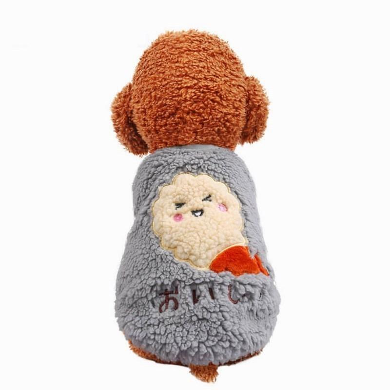 犬の服 ドッグウェア 犬 服 ドッグクローズ 秋冬 暖かい 防寒 もこもこ ふわふわ 可愛い 二足 小型犬 中型犬 選べる 3色 XS S M L XL Panni|panni-fashion|13
