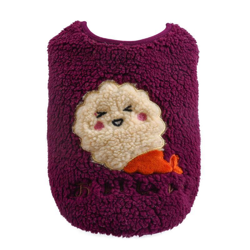 犬の服 ドッグウェア 犬 服 ドッグクローズ 秋冬 暖かい 防寒 もこもこ ふわふわ 可愛い 二足 小型犬 中型犬 選べる 3色 XS S M L XL Panni|panni-fashion|16