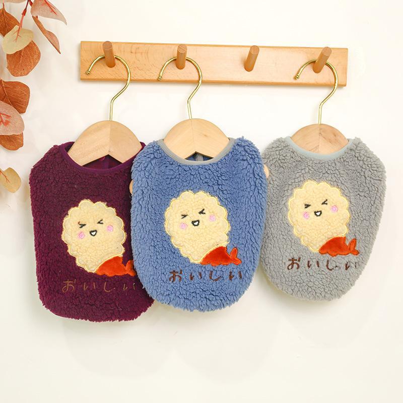 犬の服 ドッグウェア 犬 服 ドッグクローズ 秋冬 暖かい 防寒 もこもこ ふわふわ 可愛い 二足 小型犬 中型犬 選べる 3色 XS S M L XL Panni|panni-fashion|04