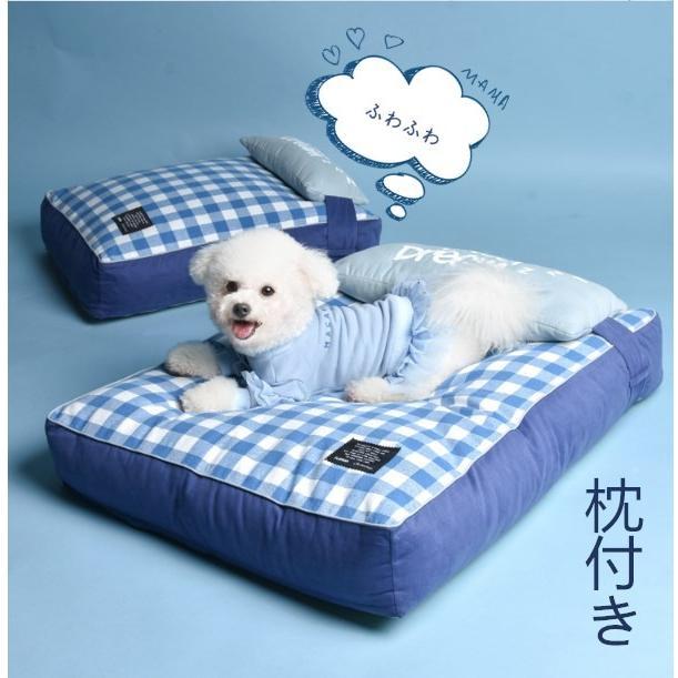 ペットベッド ソフトペット 犬 クッション ペット 小型犬 中型犬 大型犬 柴犬 マット スクエア型 暖かい 防寒対策 秋冬  ヨーロッパ風 S:55*42*12 Panni|panni-fashion|02