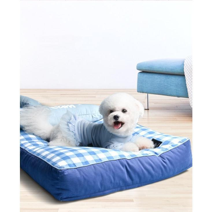 ペットベッド ソフトペット 犬 クッション ペット 小型犬 中型犬 大型犬 柴犬 マット スクエア型 暖かい 防寒対策 秋冬  ヨーロッパ風 S:55*42*12 Panni|panni-fashion|10