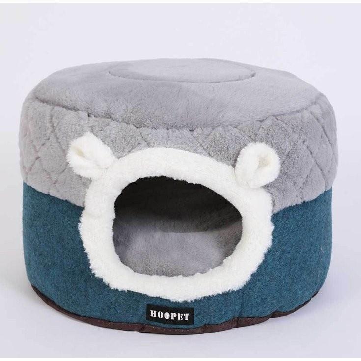 猫ベッド ペットベッド 猫 ドーム型 猫ハウス 2WAY 暖かい クッション キャットハウス 2in1 小型犬 犬猫兼用 ふわふわ 柔らかい S/M サイズ 送料無料|panni-fashion|04