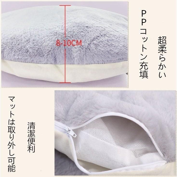 猫ベッド ペットベッド 猫 ドーム型 猫ハウス 2WAY 暖かい クッション キャットハウス 2in1 人気猫ハウス 犬猫兼用 ふわふわ 柔らかい S/M サイズ 送料無料|panni-fashion|06