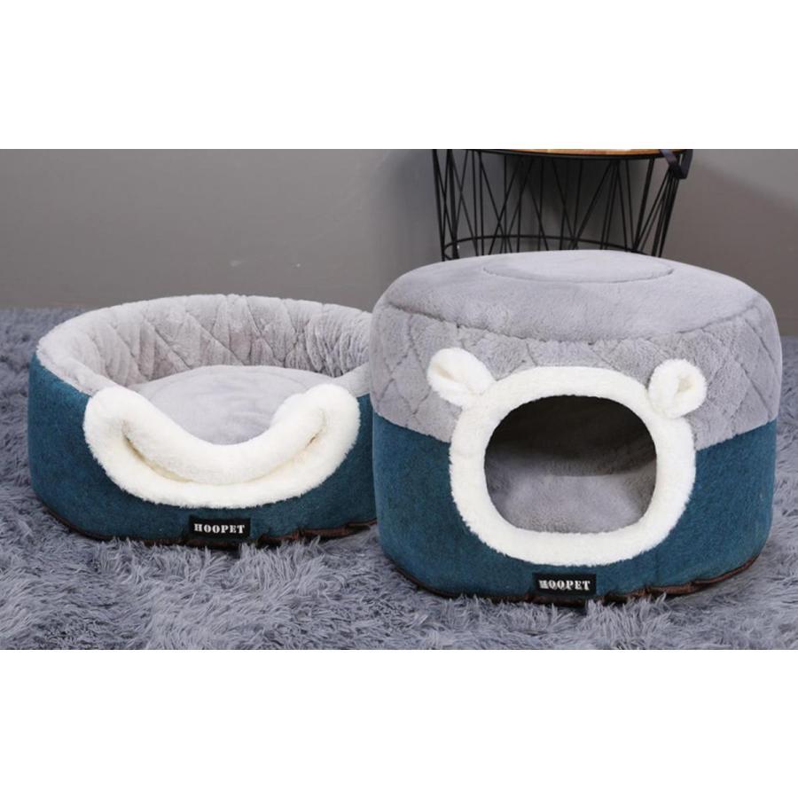 猫ベッド ペットベッド 猫 ドーム型 猫ハウス 2WAY 暖かい クッション キャットハウス 2in1 小型犬 犬猫兼用 ふわふわ 柔らかい S/M サイズ 送料無料|panni-fashion|11