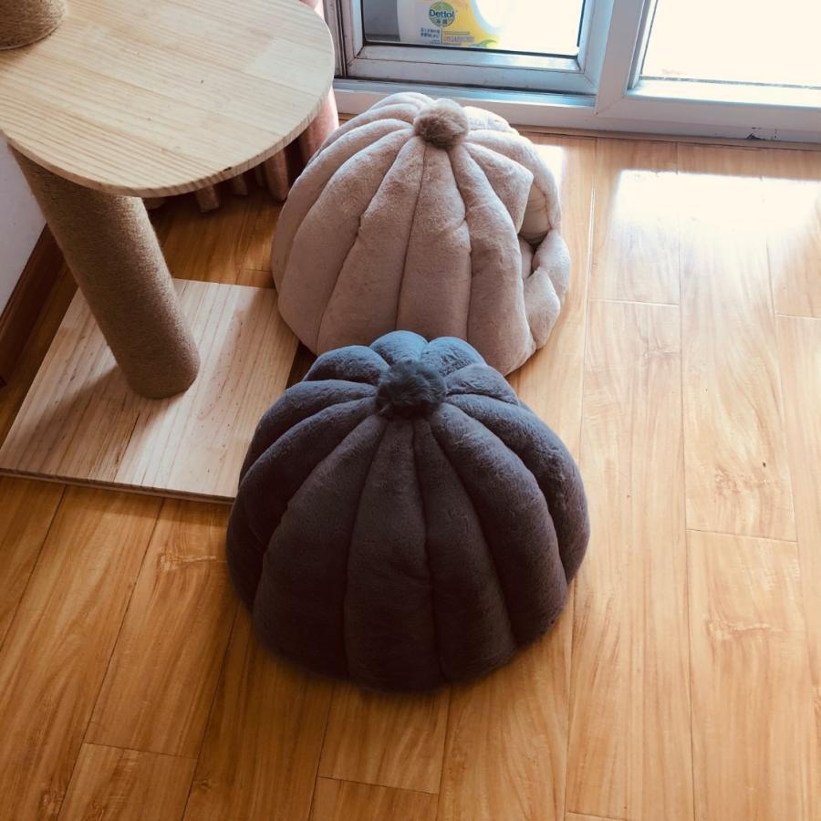 ペットベッド 犬 猫 ふわふわ 暖か ペットハウス 猫ベッド ペット用 ペットハウス ペットベッド ドーム型 小型犬 マット付き 室内用  秋 冬 送料無料|panni-fashion|02