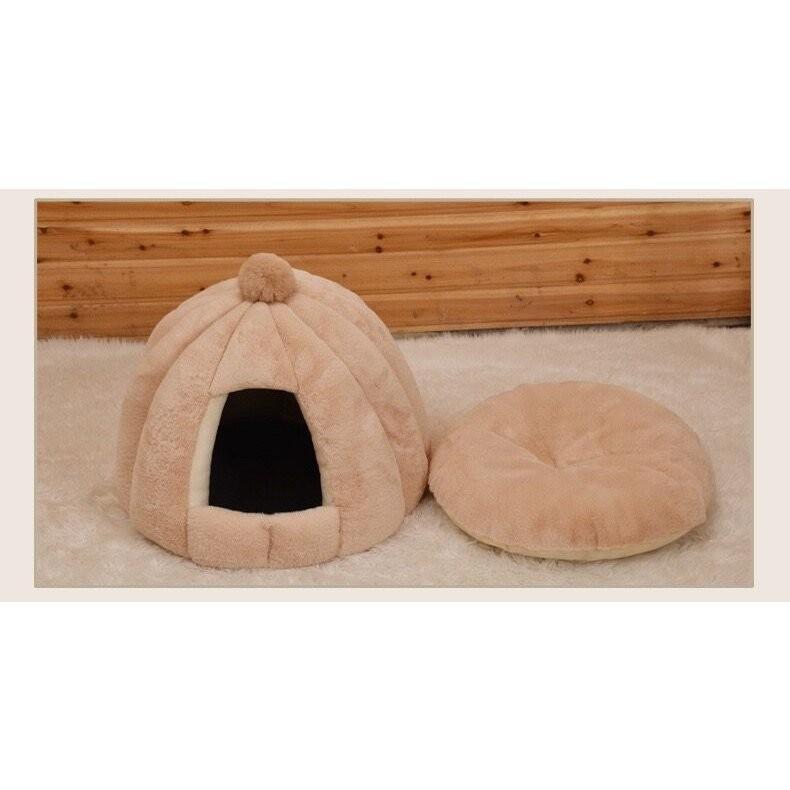 ペットベッド 犬 猫 ふわふわ 暖か ペットハウス 猫ベッド ペット用 ペットハウス ペットベッド ドーム型 小型犬 マット付き 室内用  秋 冬 送料無料 panni-fashion 11