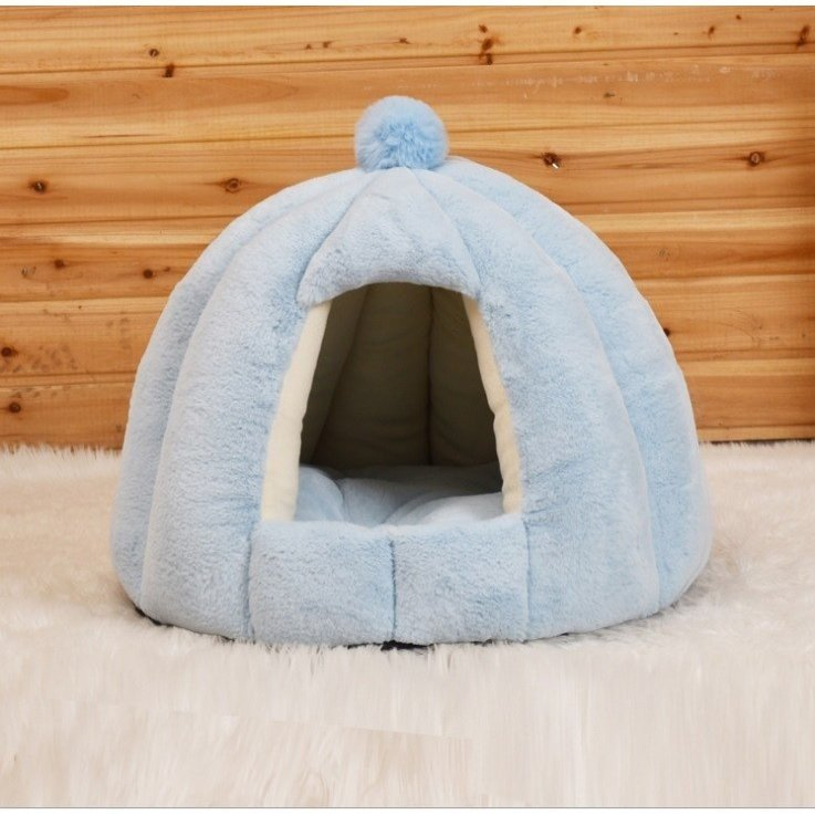 ペットベッド 犬 猫 ふわふわ 暖か ペットハウス 猫ベッド ペット用 ペットハウス ペットベッド ドーム型 小型犬 マット付き 室内用  秋 冬 送料無料|panni-fashion|17