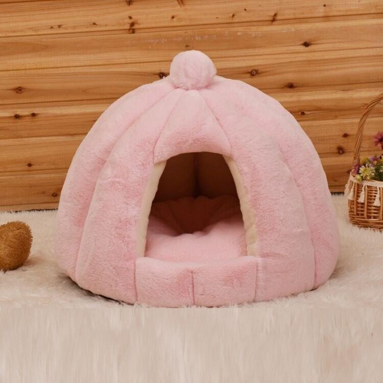 ペットベッド 犬 猫 ふわふわ 暖か ペットハウス 猫ベッド ペット用 ペットハウス ペットベッド ドーム型 小型犬 マット付き 室内用  秋 冬 送料無料|panni-fashion|15