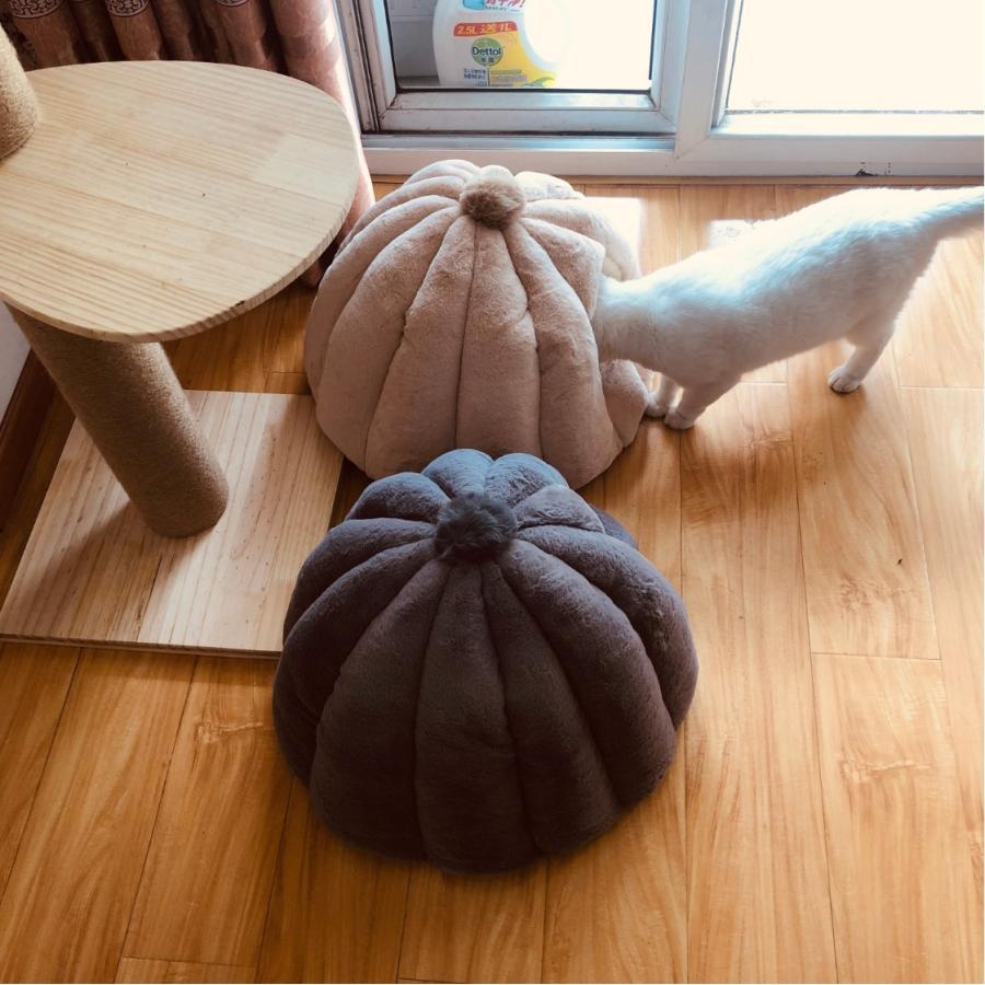 ペットベッド 犬 猫 ふわふわ 暖か ペットハウス 猫ベッド ペット用 ペットハウス ペットベッド ドーム型 小型犬 マット付き 室内用  秋 冬 送料無料|panni-fashion|05