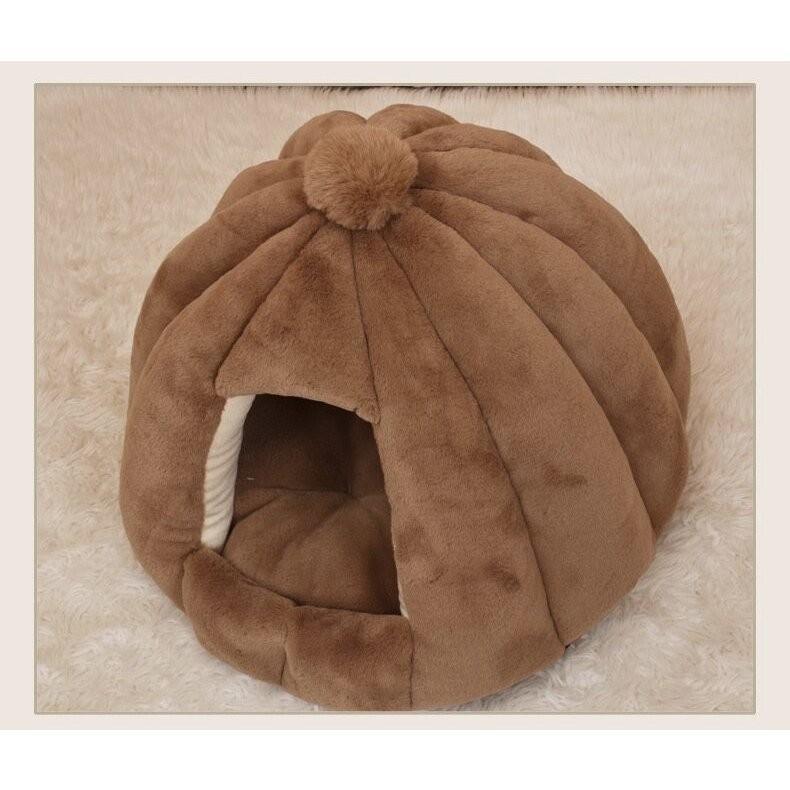 ペットベッド 犬 猫 ふわふわ 暖か ペットハウス 猫ベッド ペット用 ペットハウス ペットベッド ドーム型 小型犬 マット付き 室内用  秋 冬 送料無料|panni-fashion|16